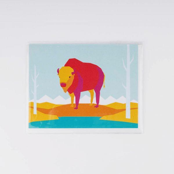 bison greeting card 1