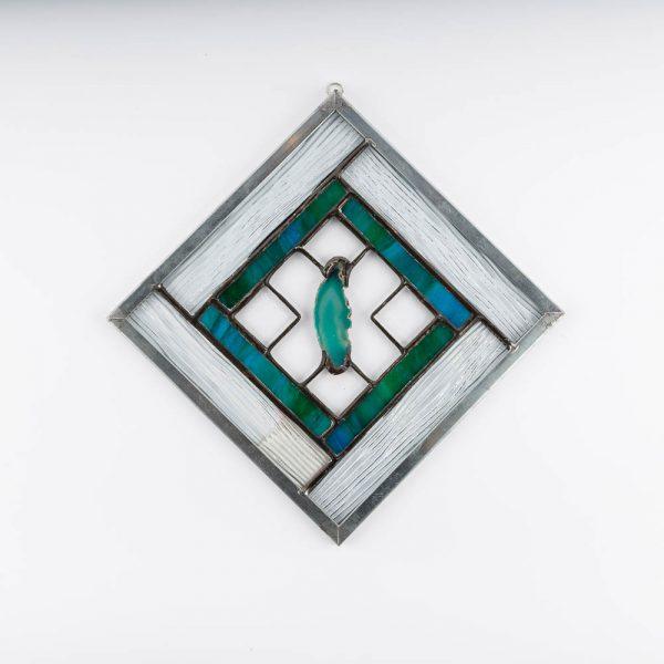 blue agate panel