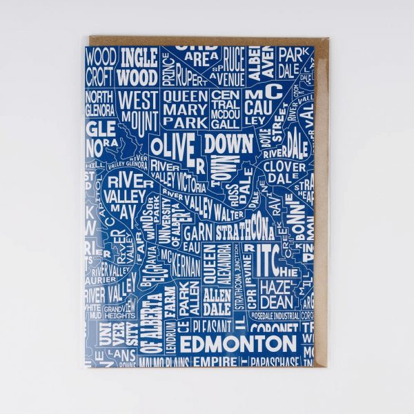 blue edmonton greeting card