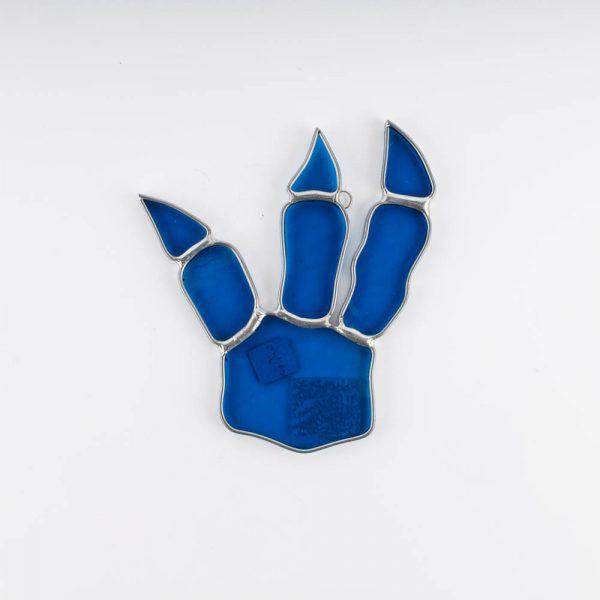 blue triple dino claw footprint