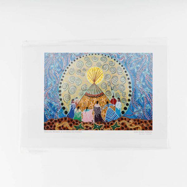 dancing woman art card