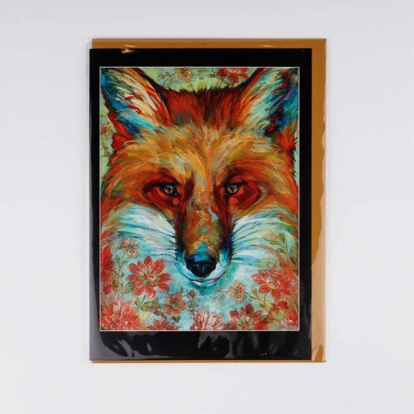 fox in flowrs card