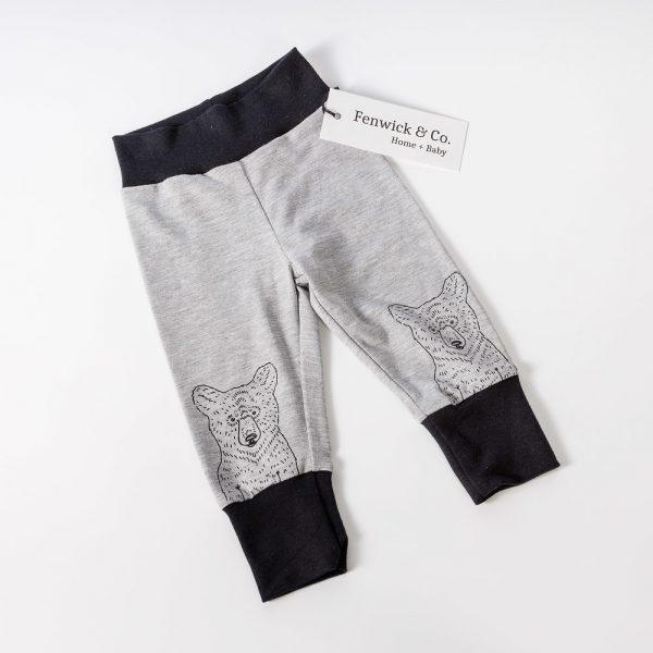 grey black bear joggers