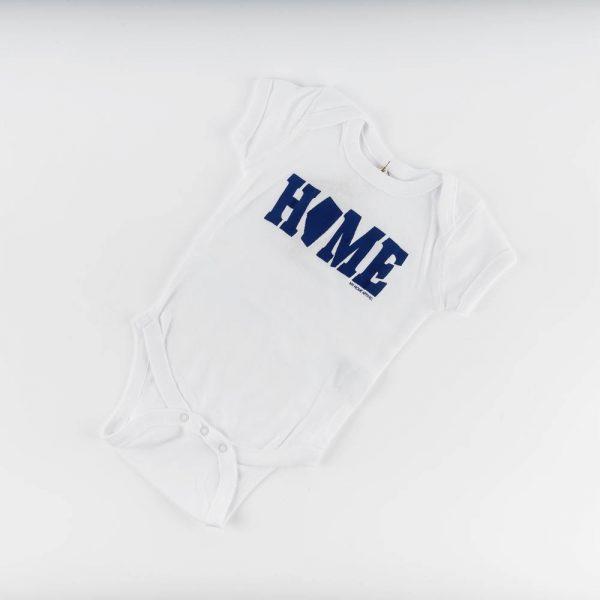 home alberta white onesie