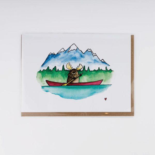 moose canoe card