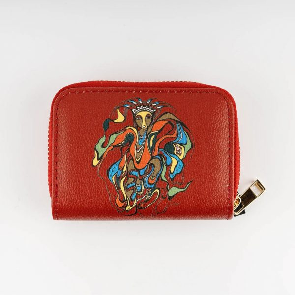 pow wow dancer card wallet
