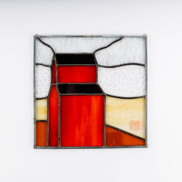 red grain elevator panel