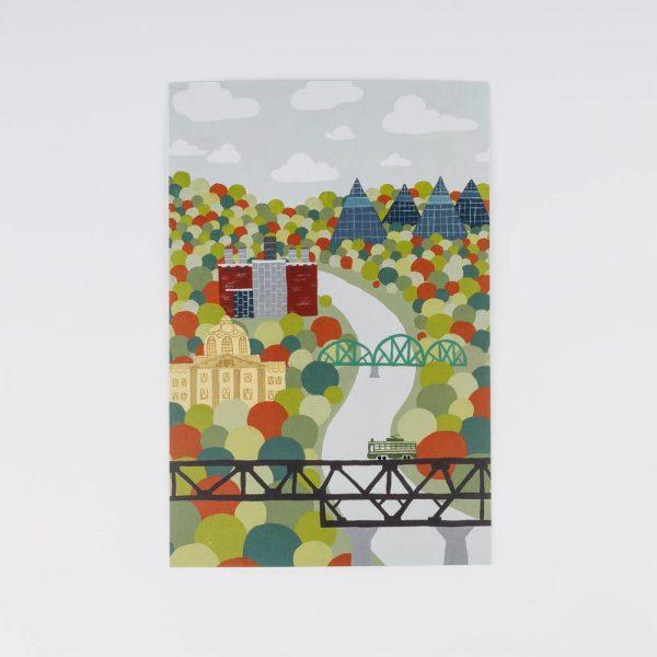 river valley postcard