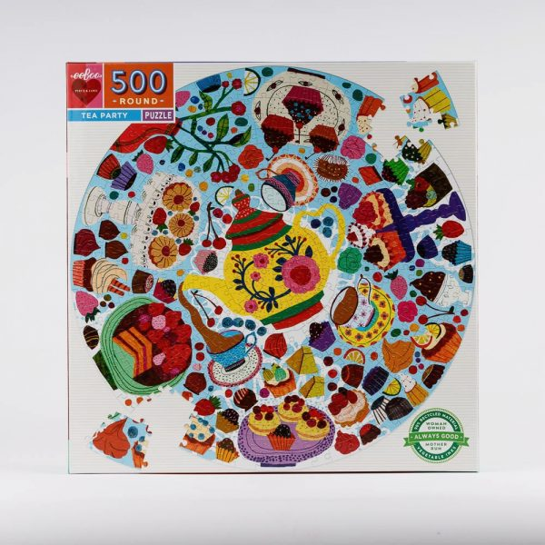 tea party round puzzle