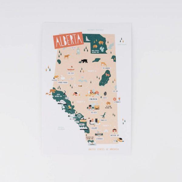 alberta map print