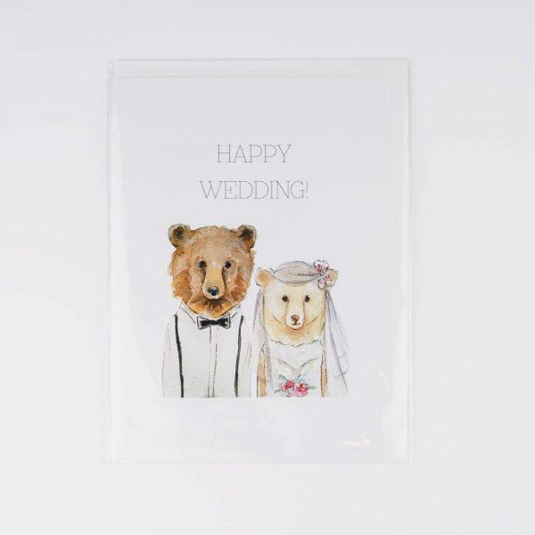 bear wedding card