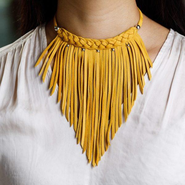 tan necklace