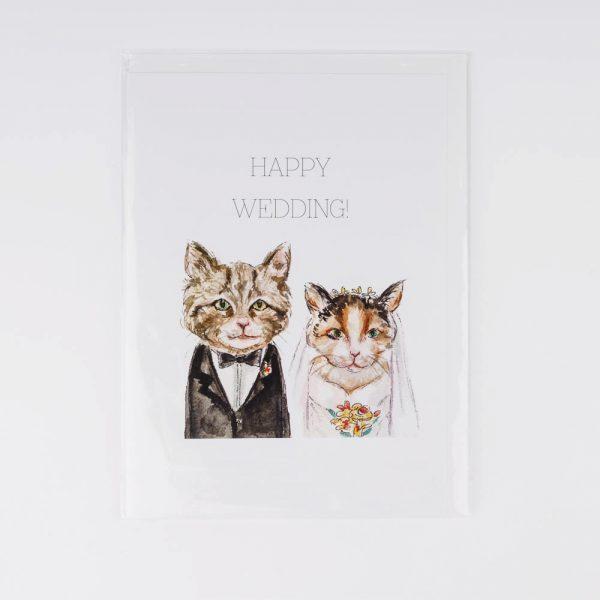 wedding cats card