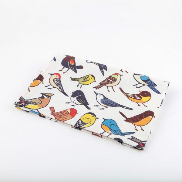 all over birds tea towel