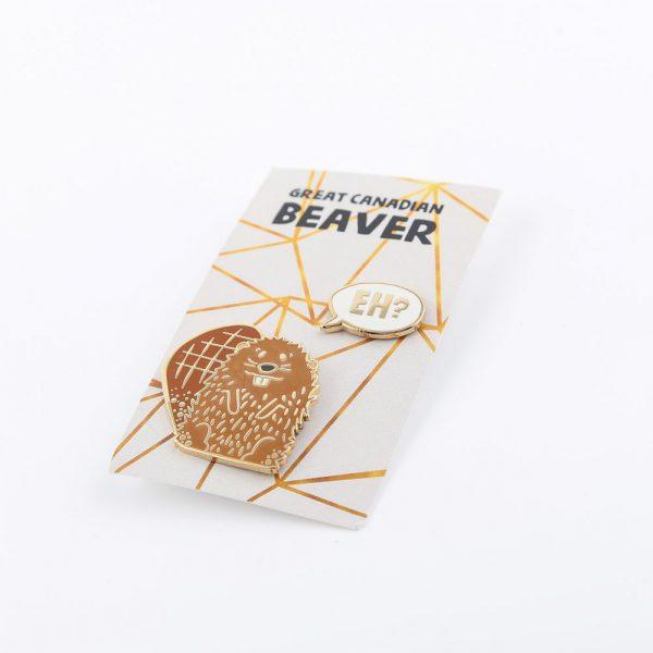 brown beaver pins