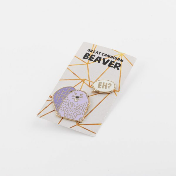 purple beaver pins