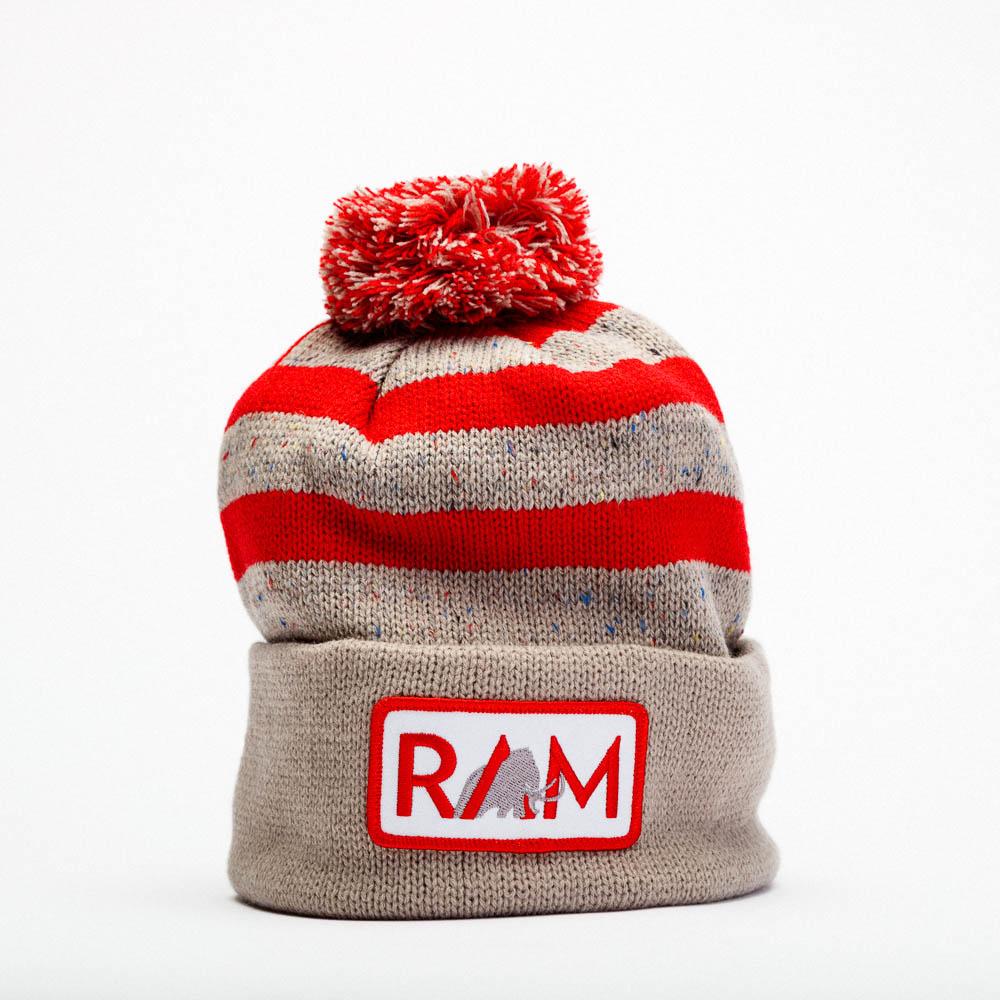 ram striped toque